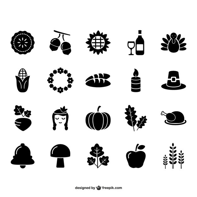 Turkey Icon For Thanksgiving  Thanksgiving and autumn icon pack Vector