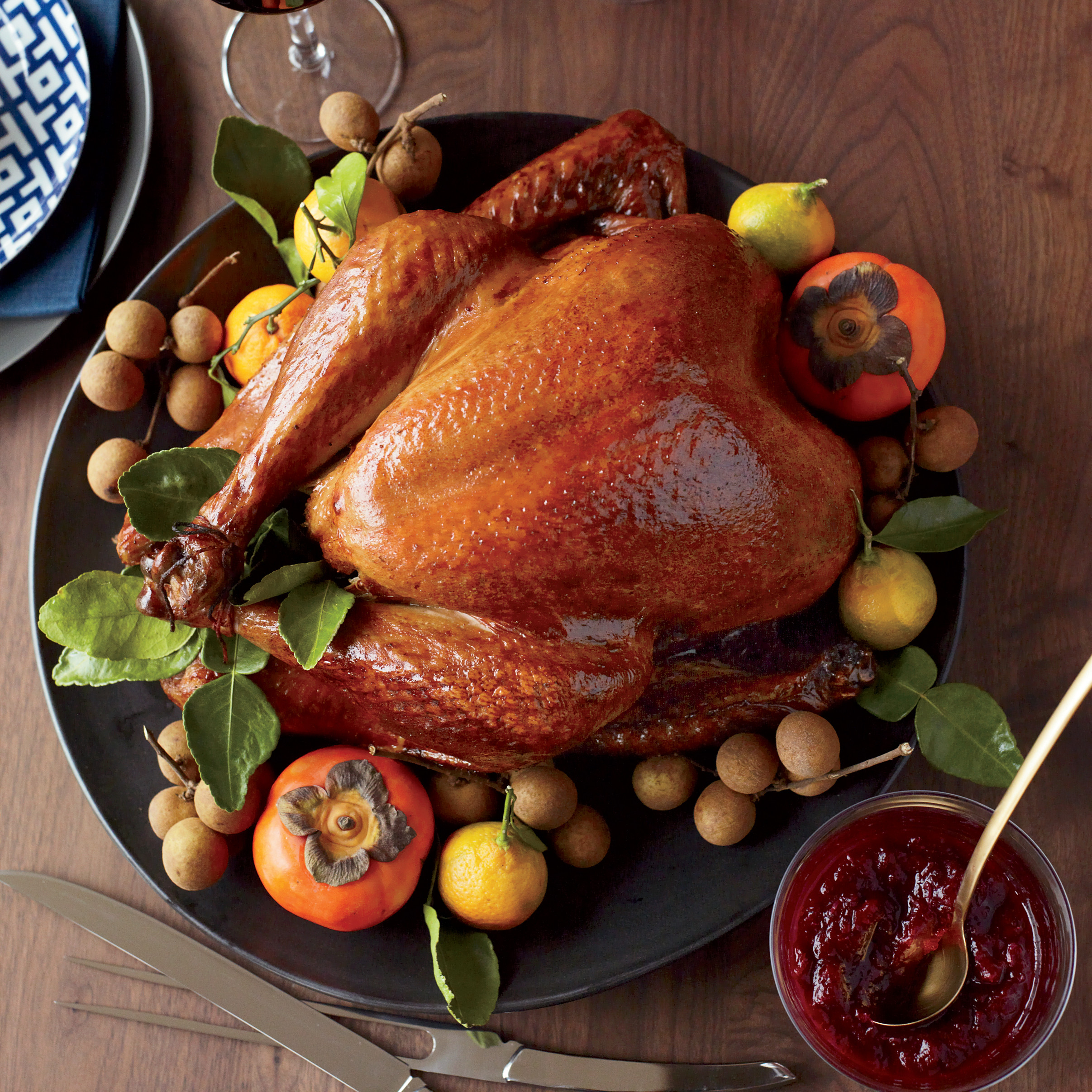Turkey On Thanksgiving  Soy Sauce and Honey Glazed Turkey Recipe Joanne Chang
