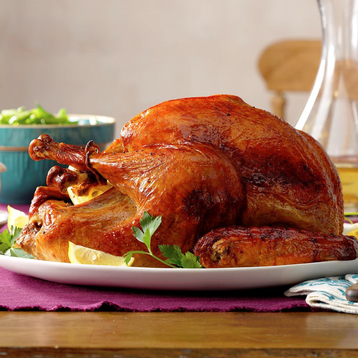 Turkey On Thanksgiving  Marinated Thanksgiving Turkey Recipe