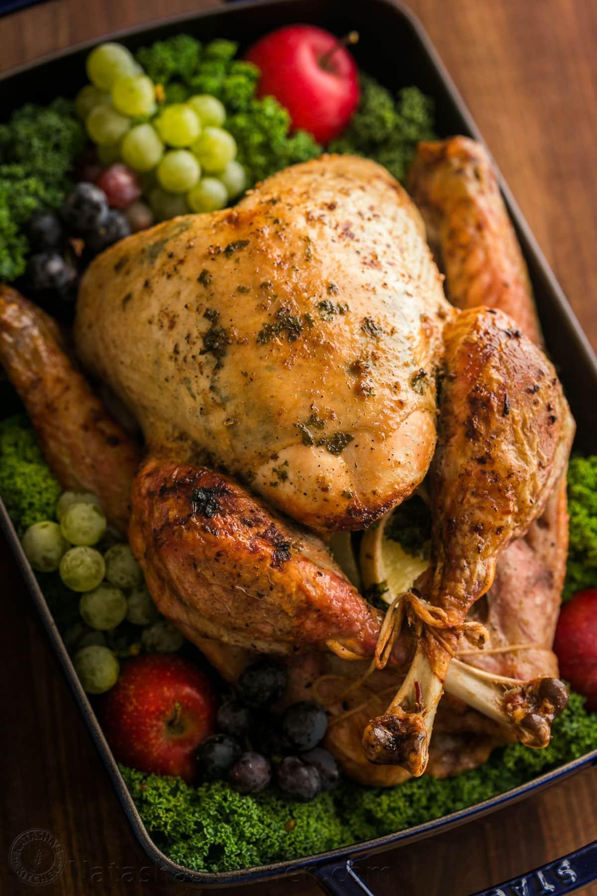 Turkey On Thanksgiving  Thanksgiving Turkey Recipe VIDEO NatashasKitchen