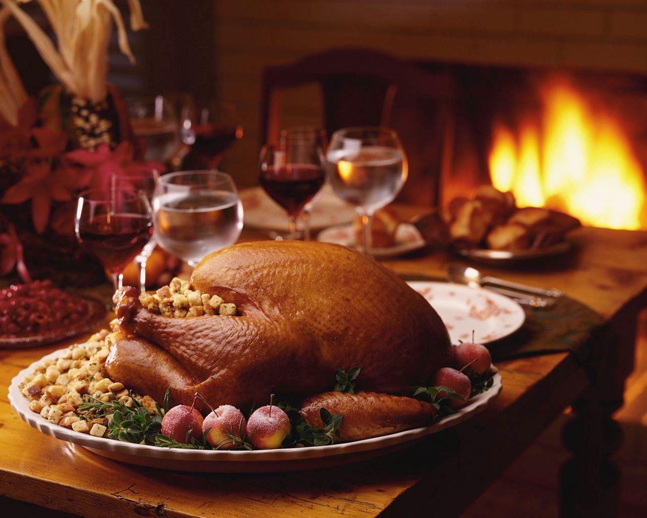 Turkey On Thanksgiving  Christmas Wallpapers Thanksgiving Roasted Turkey
