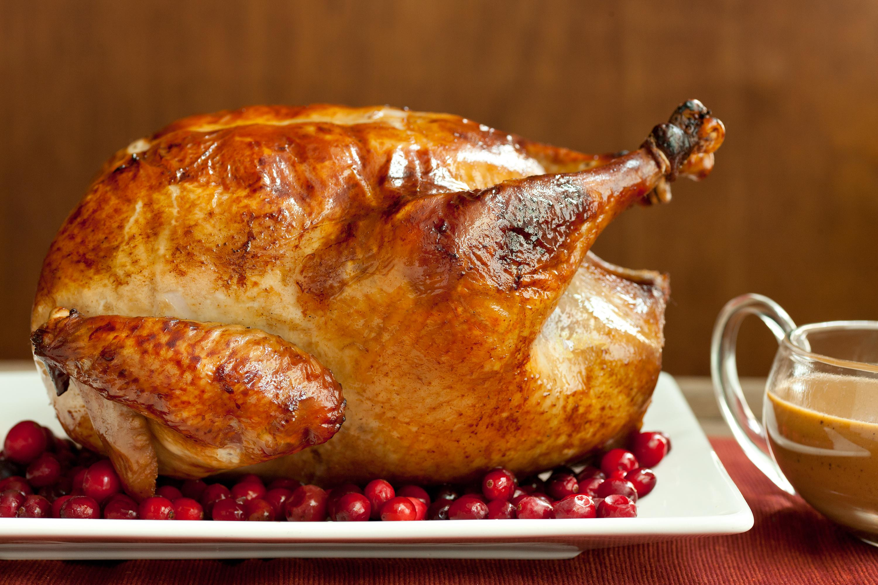 Turkey Picture For Thanksgiving  Easy Brined Roasted Turkey with Creamed Gravy Recipe