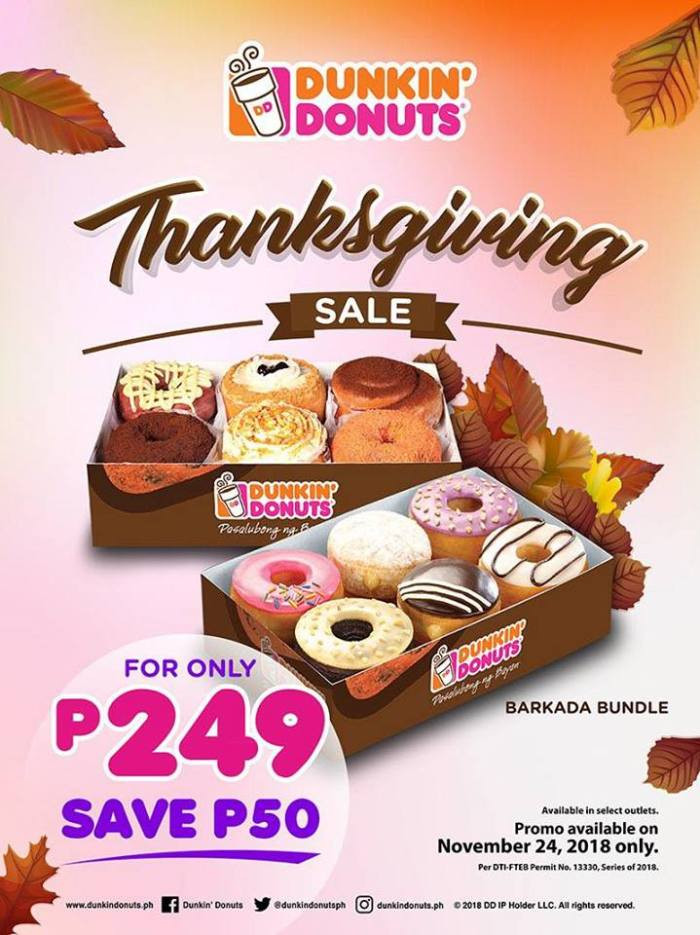 Turkey Prices For Thanksgiving 2019  Dunkin' Donuts Thanksgiving Sale Chocolate Festival