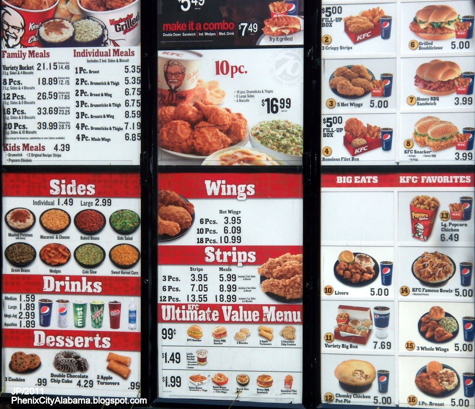 Turkey Prices For Thanksgiving 2019  KFC Menu Prices 2015 Deep Fried Foods