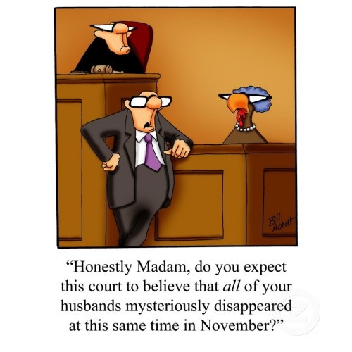 Turkey Puns Thanksgiving  Mystery Fanfare Cartoon of the Day Thanksgiving Inquest