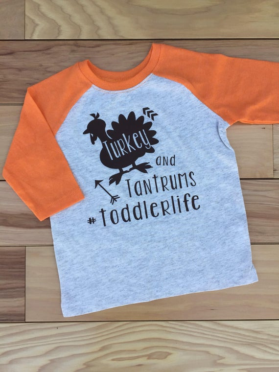 Turkey Shirts For Thanksgiving  Toddler Boy Thanksgiving Shirt Thankful Shirt Turkey and