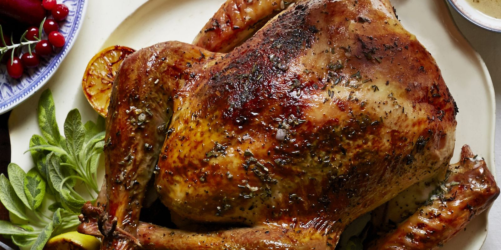 Turkey Thanksgiving Recipe  Herb and Citrus Butter Roasted Turkey Recipe