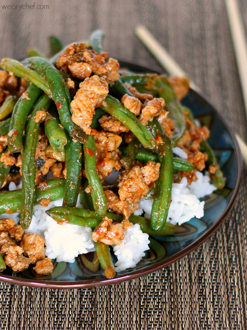 Turkey Thanksgiving Recipe  Favorite Chinese Green Beans with Ground Turkey The