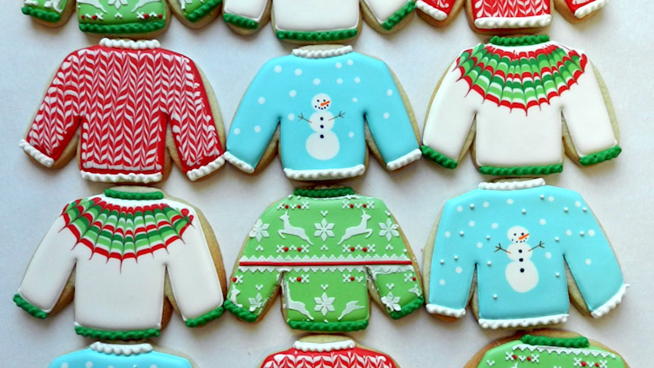 Ugly Christmas Sweater Cookies  How to Decorate Ugly Christmas Sweater Cookies