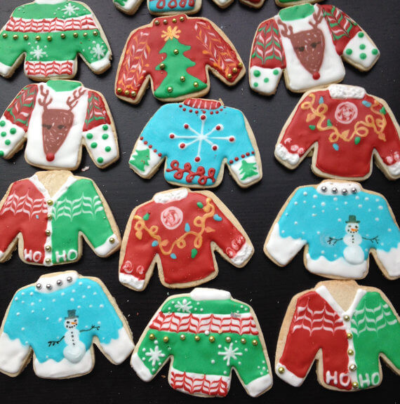 Ugly Christmas Sweater Cookies  Ugly Sweater Cookie and Cocktail Party Ginger and Baker