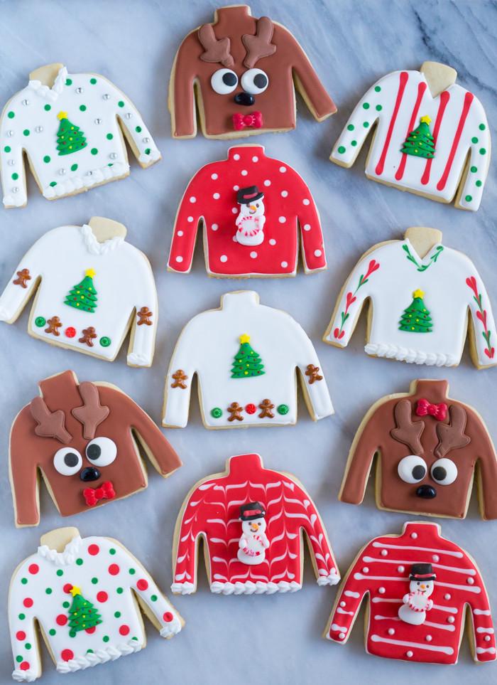 Ugly Christmas Sweater Cookies  Easy Ugly Christmas Sweater Cookies Bake at 350°