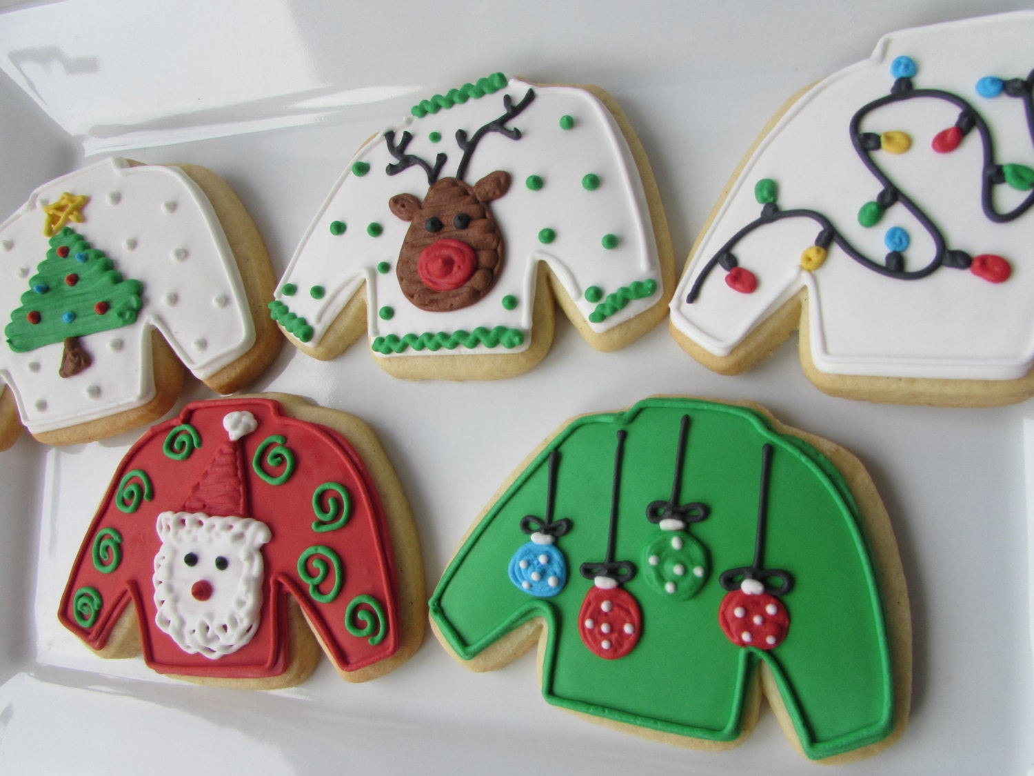 Ugly Christmas Sweater Cookies  Ugly Sweater Cookies Christmas Cookies Christmas Favors