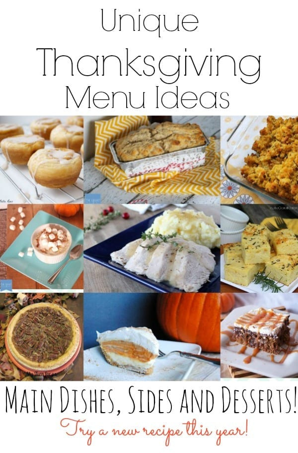 Unique Thanksgiving Side Dishes  Unique Thanksgiving Menu Ideas mom makes dinner