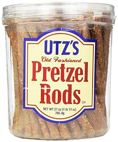 Utz Christmas Pretzels  Utz Old Fashioned Pretzel Rods 27 oz Barrel Import It All