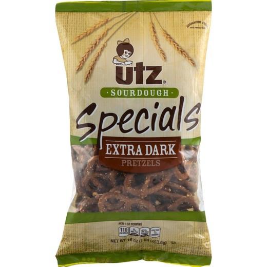 Utz Christmas Pretzels  Utz Sourdough Specials Extra Dark Pretzels 16oz The