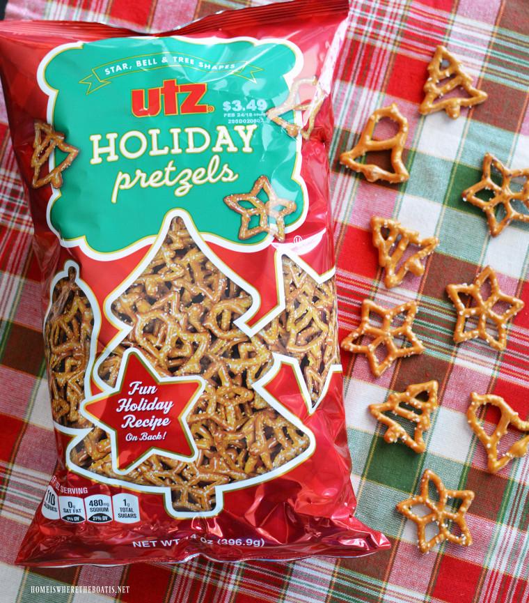 Utz Christmas Pretzels  An Easy No Bake Treat Reindeer Corn Snack Mix – Home is