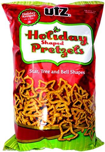 Utz Christmas Pretzels  Utz Holiday Shaped Pretzels Star Tree and Bell Sapes 14oz