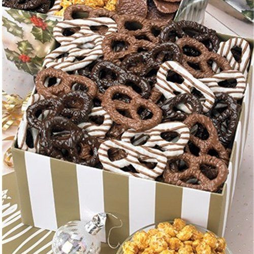 Utz Christmas Pretzels  Utz Gift Box Chocolate Pretzel Blend Holiday Treasures