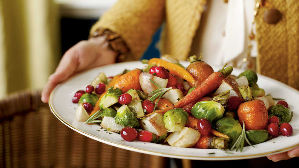 Vegetables Side Dishes For Christmas  Cranberry Roasted Winter Ve ables Christmas Holiday