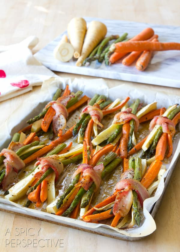 Vegetables Side Dishes For Christmas  Oven Roasted Ve ables with Maple Glaze A Spicy Perspective