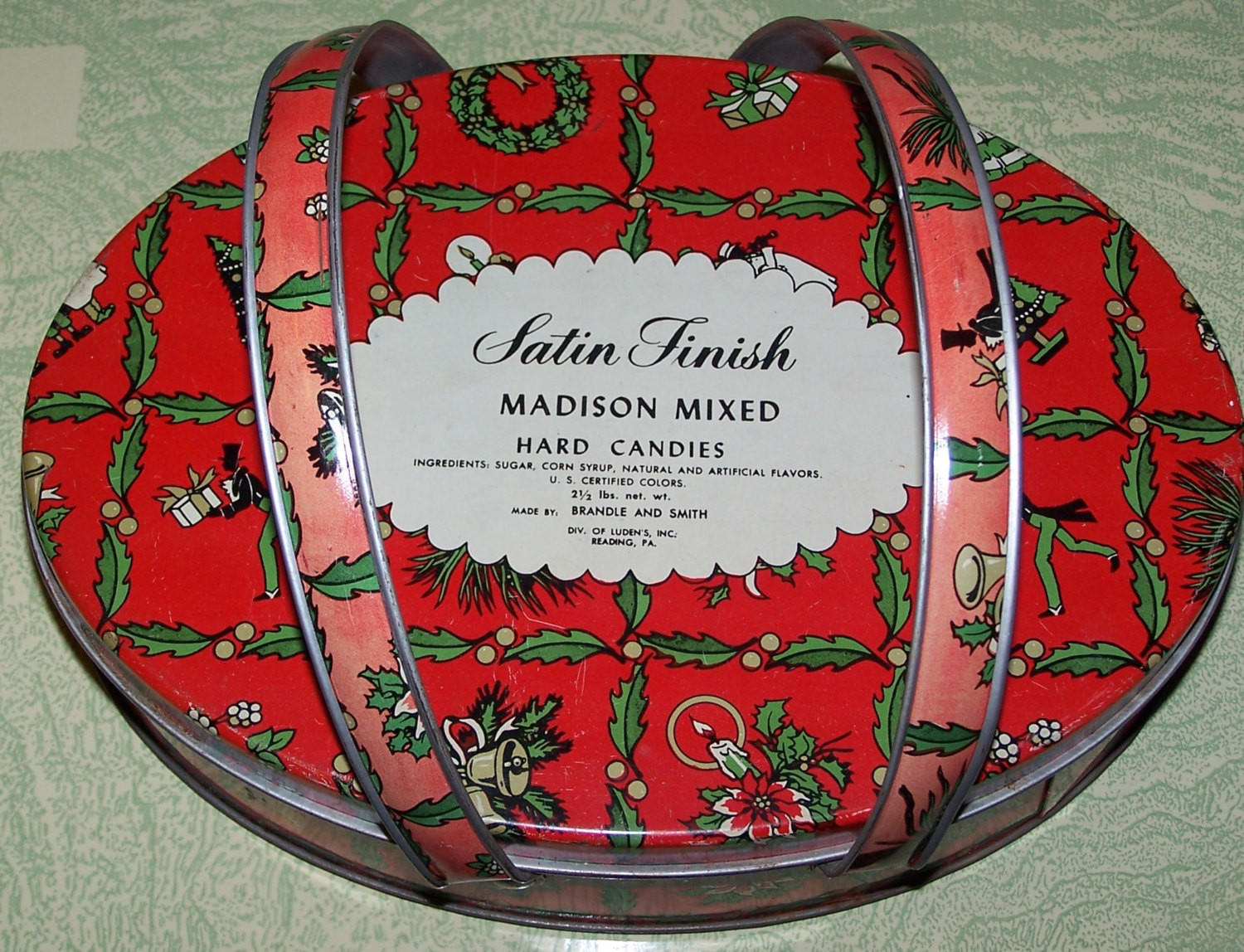 Vintage Christmas Candy  Vintage retro Christmas candy advertising tin Madison mixed