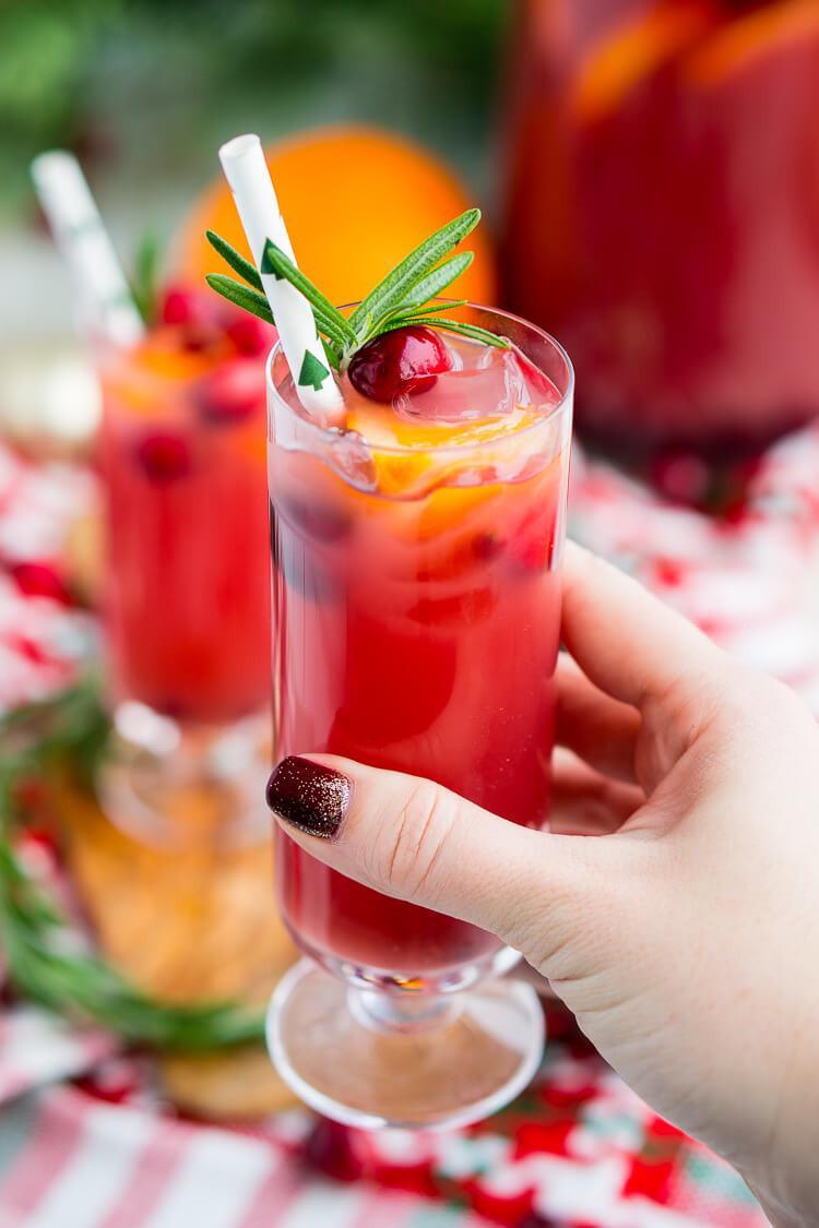 Vodka Christmas Drinks  Christmas Punch Boozy or Not Recipe Sugar & Soul