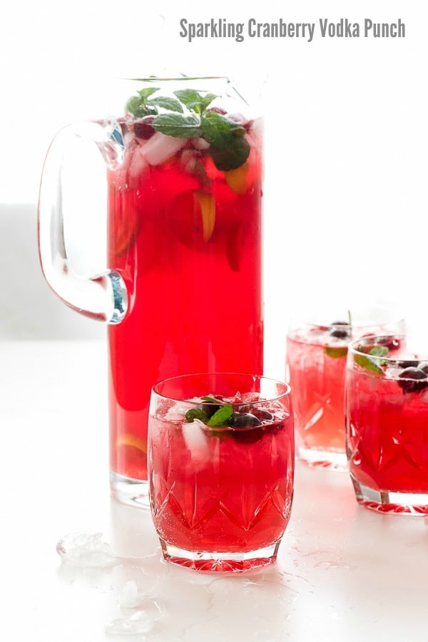 Vodka Christmas Drinks  Sparkling Cranberry Vodka Punch