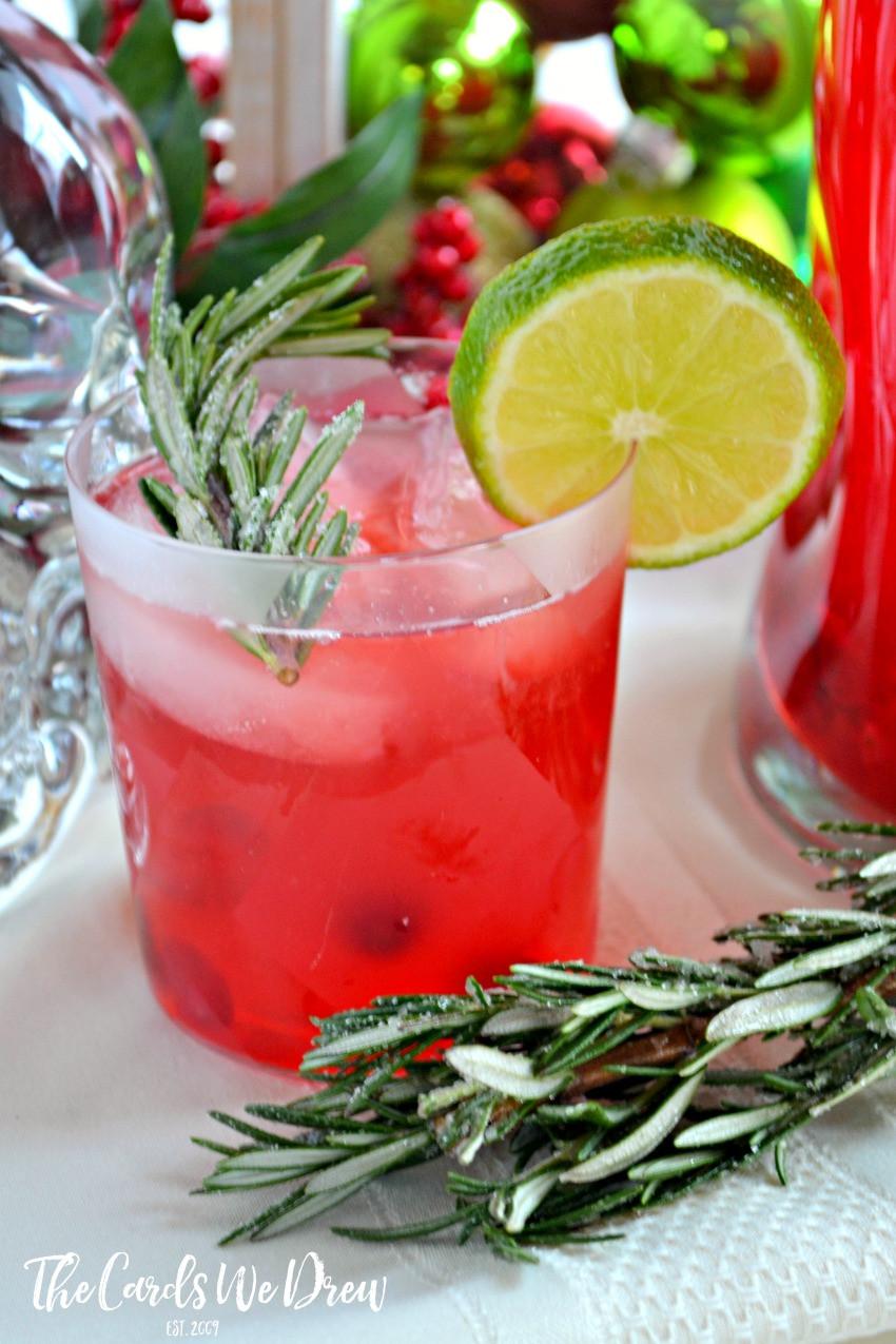 Vodka Christmas Drinks  Cranberry Lime Vodka Christmas Spritzer The Cards We Drew