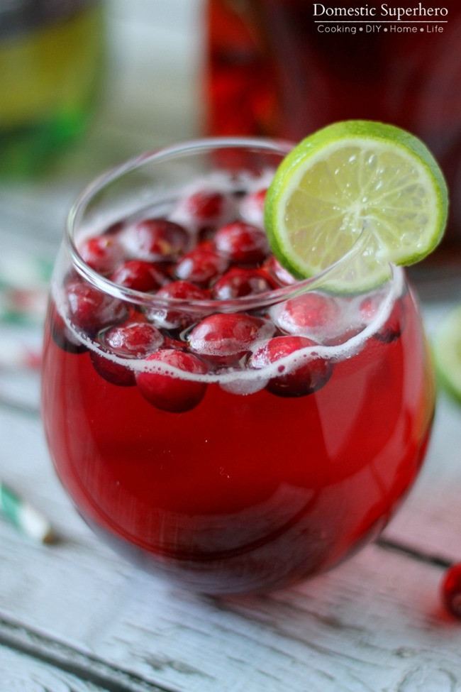 Vodka Christmas Drinks  Cranberry Ginger Cocktail & Mocktail • Domestic Superhero