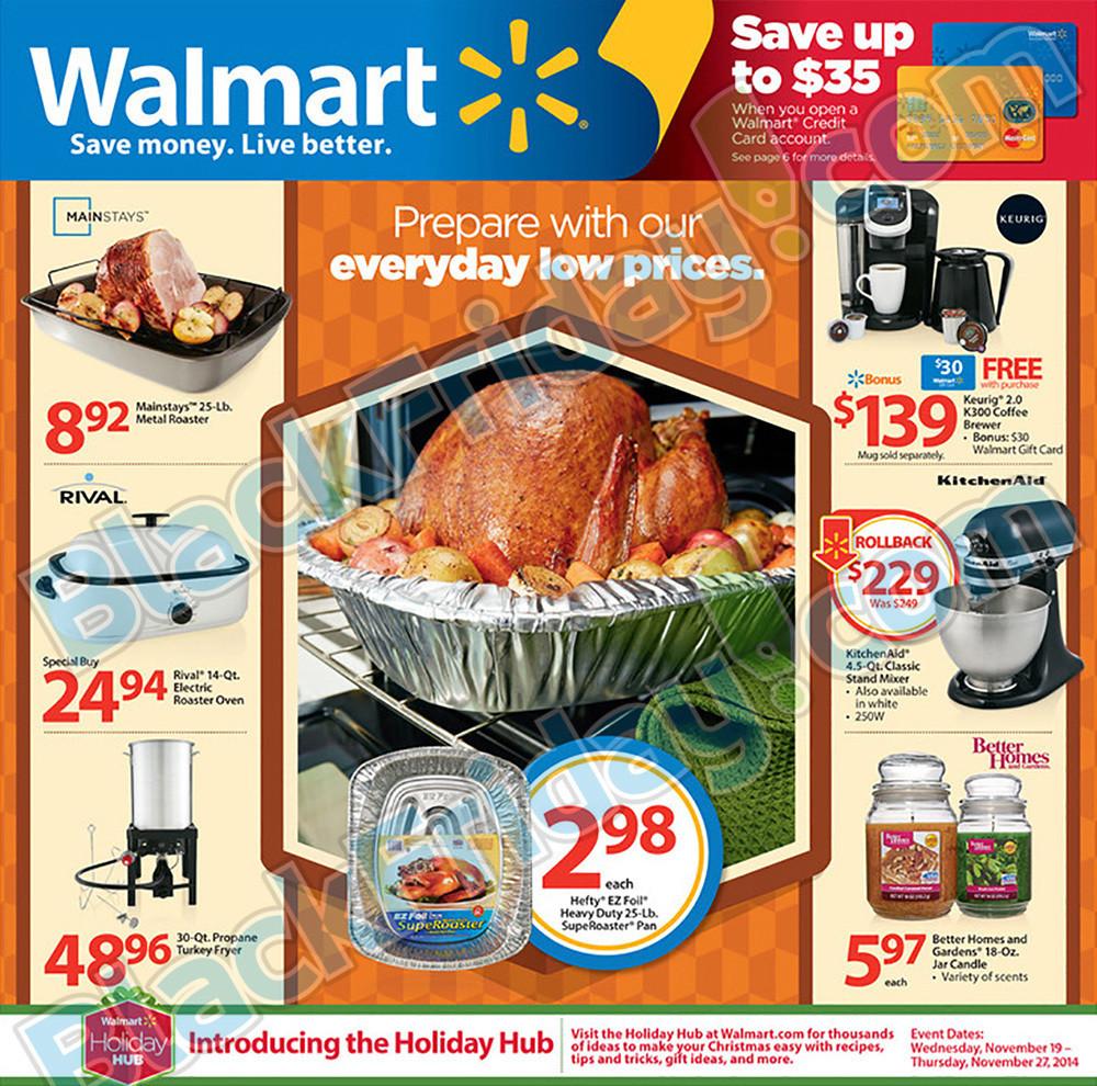 Walmart Christmas Dinners  Walmart Thanksgiving Ad
