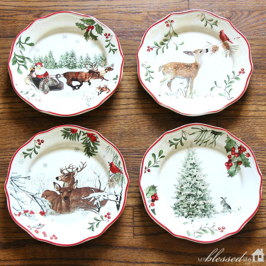 Walmart Christmas Dinners  58 Reindeer Christmas Dinnerware 222 Fifth Reindeer Fun