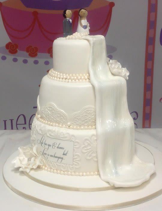 Waterfall Wedding Cakes  Waterfall wedding cake Cake by beasweet CakesDecor