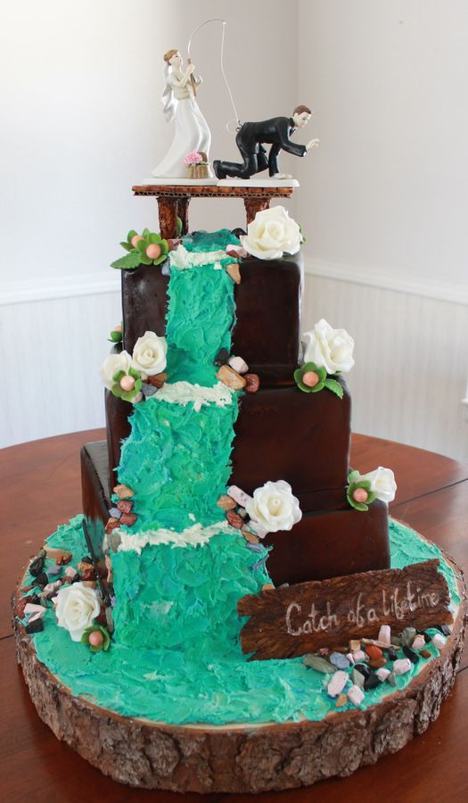Waterfall Wedding Cakes  78 Best ideas about Waterfall Cake on Pinterest