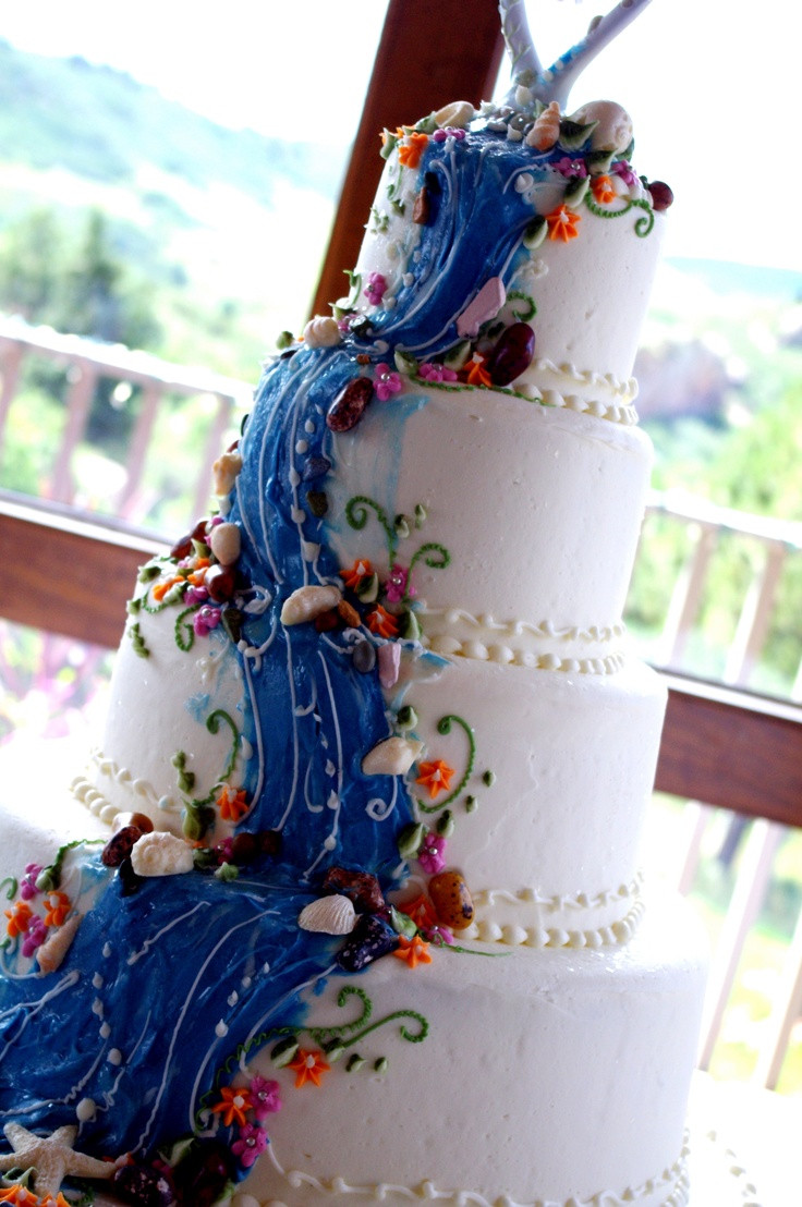 Waterfall Wedding Cakes  Waterfall cake Favorite Places & Spaces
