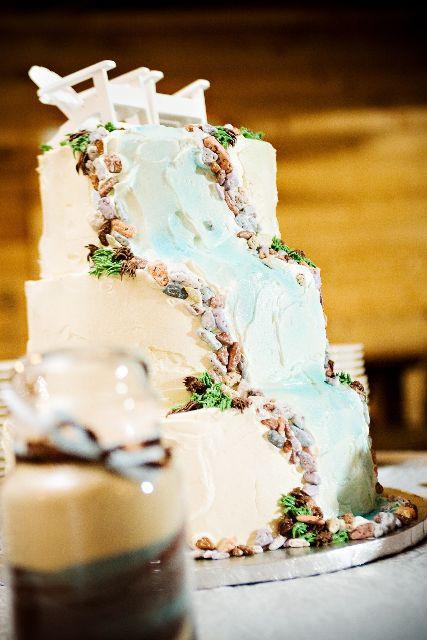 Waterfall Wedding Cakes  Waterfall wedding cake Beach Wedding