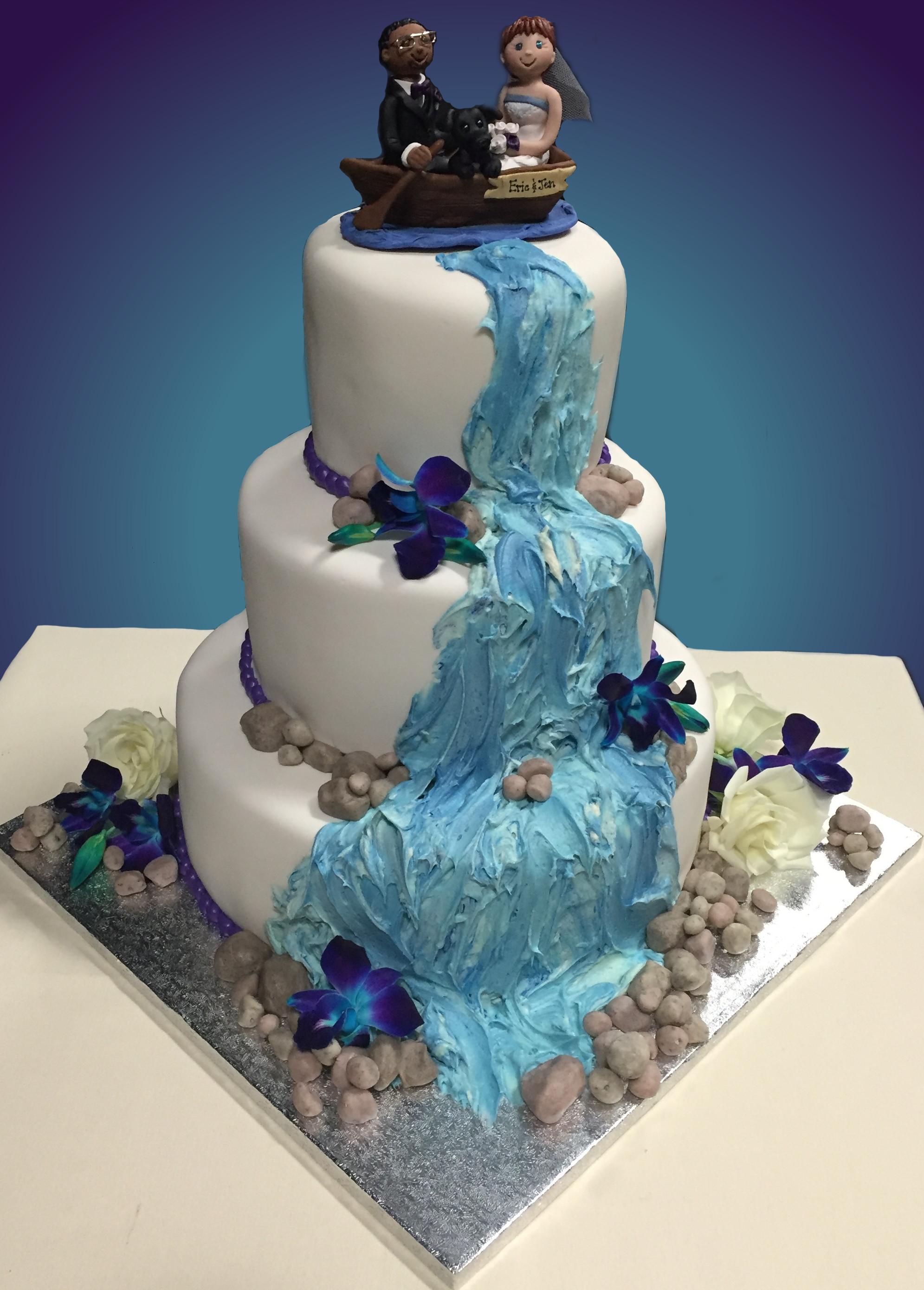 Waterfall Wedding Cakes  Waterfall Wedding Cake Emoticakes