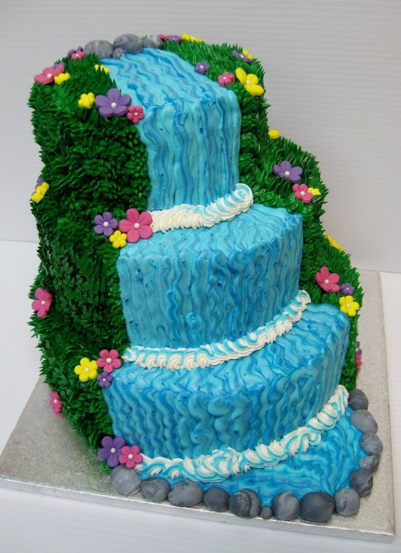 Waterfall Wedding Cakes  Waterfall cake potential birthday cake this year Hope I
