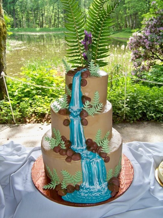 Waterfall Wedding Cakes  Waterfall Wedding Cakes Wedding and Bridal Inspiration