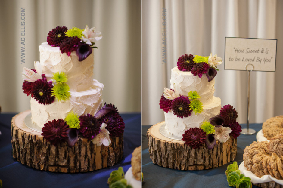 Wedding Cakes Sioux Falls Sd  Megan and Tyler's Woodsy Wedding Cake The Cake Lady