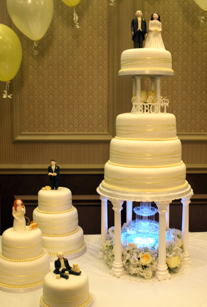 Wedding Cakes With Waterfalls  Galleries Sugarpaste Wedding Cakes Donna Jane Cakes