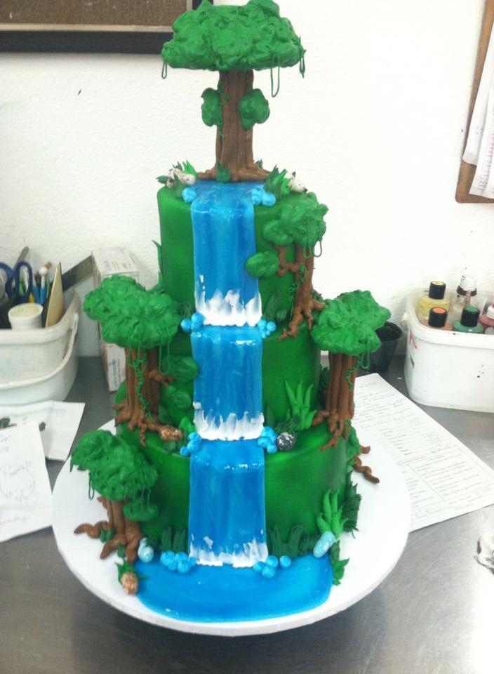 Wedding Cakes With Waterfalls  Waterfall Wedding Cake Wedding Cakes in 2019