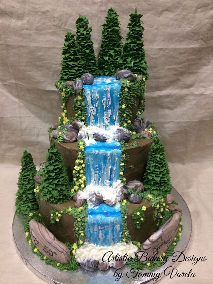Wedding Cakes With Waterfalls  17 Best ideas about Waterfall Cake on Pinterest
