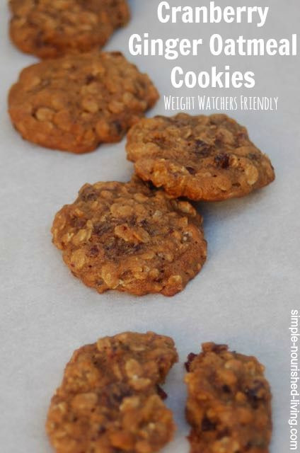 Weight Watchers Christmas Cookies  Weight Watchers Cranberry Ginger Oatmeal Cookies
