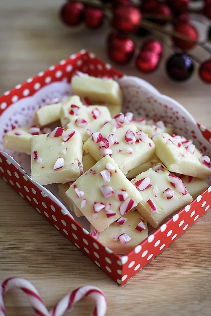 White Chocolate Christmas Candy  Candy Cane White Chocolate Fudge Love Swah