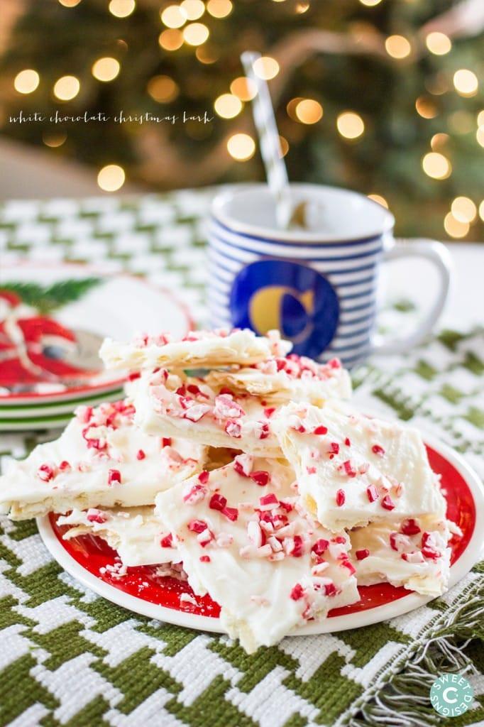 White Chocolate Christmas Candy  White Chocolate Christmas Peppermint Bark