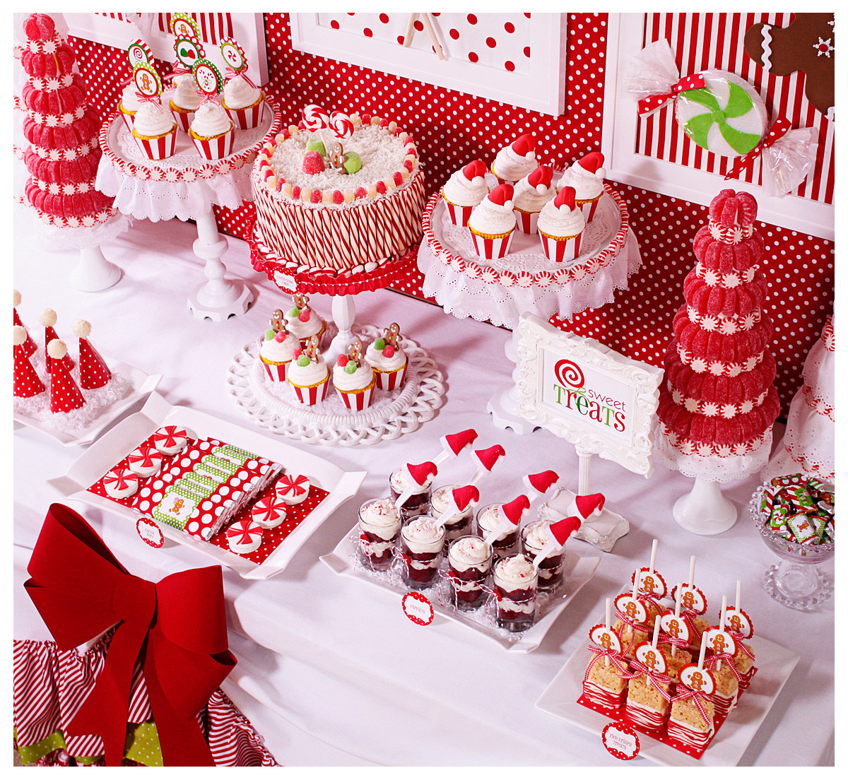 White Christmas Candy  Amanda s Parties To Go Candy Christmas Dessert Table