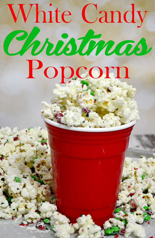 White Christmas Candy  White Candy Christmas Popcorn Day 7 of the 12 Days of