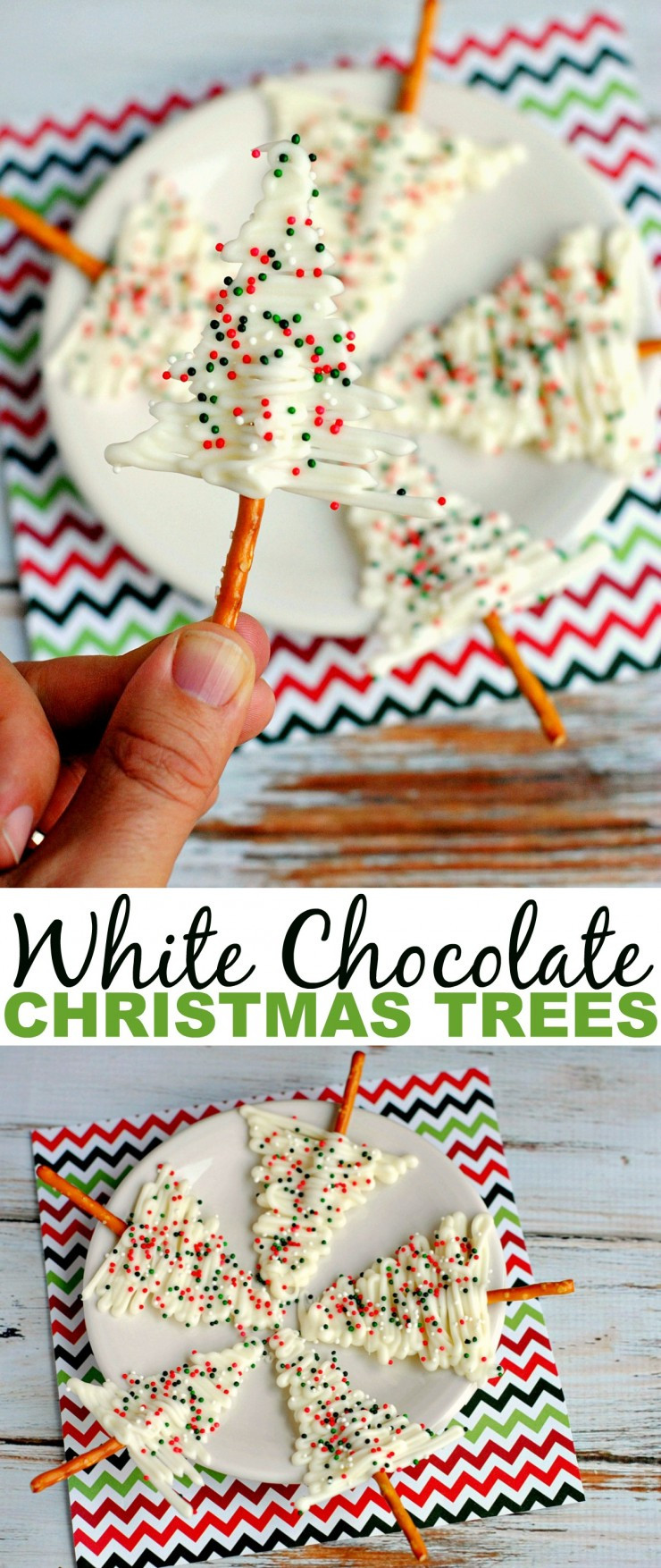 White Christmas Candy  White Chocolate Christmas Trees Frugal Mom Eh