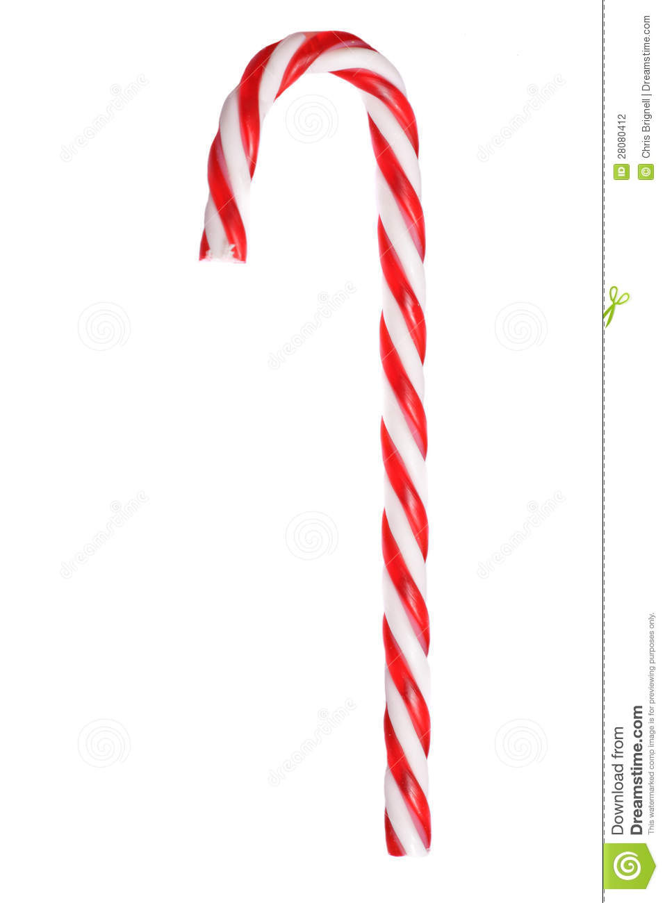 White Christmas Candy  Retro Red And White Christmas Candy Cane Stock