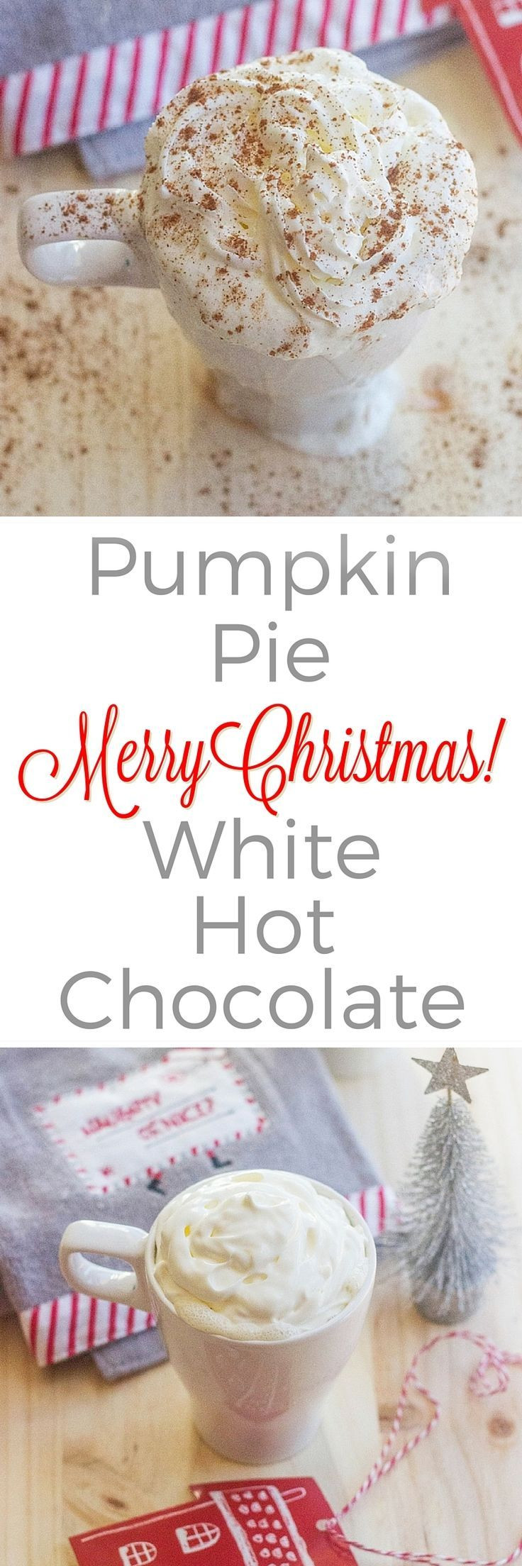 White Christmas Pie Recipes  Pumpkin Pie White Hot Chocolate Recipe